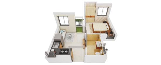 1 BHK apartment in Serampore