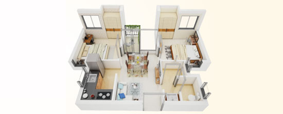 2 BHK apartment in Serampore