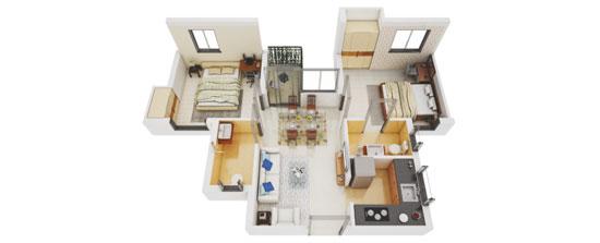 Luxurious 2 BHK apartment in Serampore
