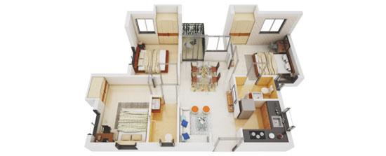 3 BHK apartments in Serampore