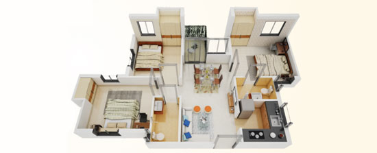 3 BHK flats in Serampore for sale