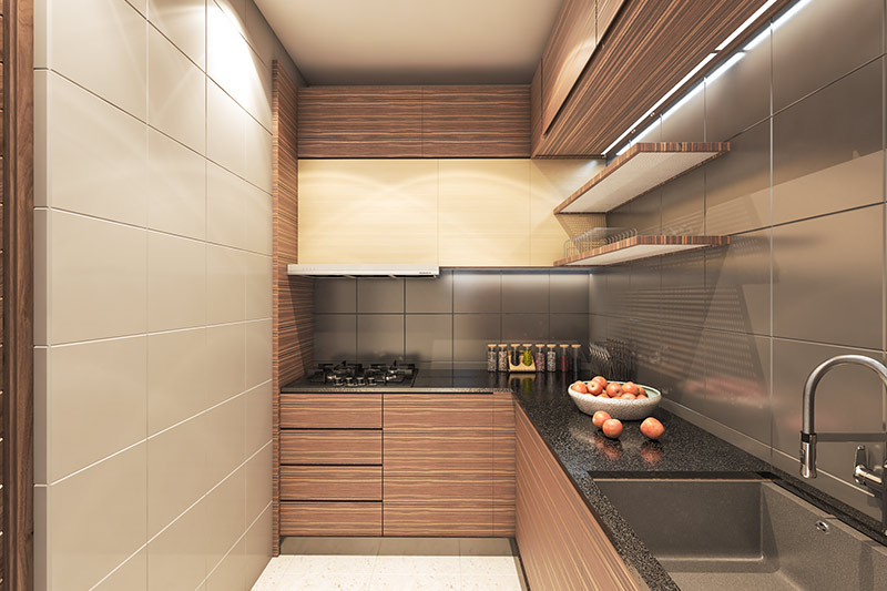 A state-of-the-art kitchen at Solaris Bonhooghly
