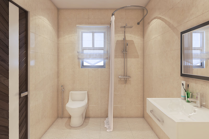 Bathroom with fittings at Solaris Bonhooghly
